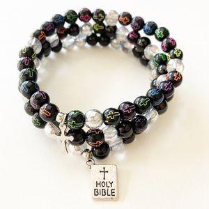Colorful Rainbow Christian Bible Verse Bracelets